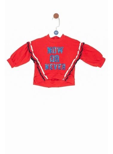 BG Baby Kız Bebek Kırmızı Sweatshirt Kırmızı